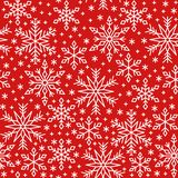 Snow flake line seamless pattern winter background vector illustration