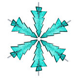 Snow flake made from christmas lollipops Stock Images