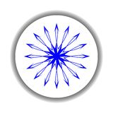 Snow flake medallion 4 Royalty Free Stock Image