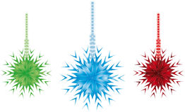 Snow flake ornament Stock Photo