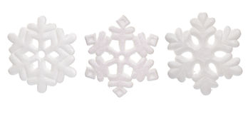 Snow Flake Ornaments Stock Photos