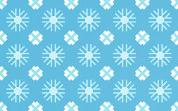Snow flake pattern background. And abstract blue textile Stock Photos