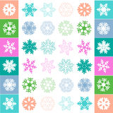 Snow flake pattern vector. Colorful snow flake pattern set vector vector illustration