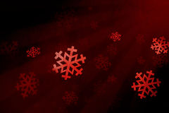 Snow flake red Royalty Free Stock Photo