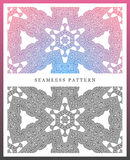 Snow flake seamless pattern. Christmas background. Stock Photo