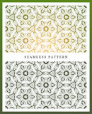 Snow flake seamless pattern. Christmas background. Royalty Free Stock Photography