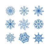 Snow flake set. Snowflake royalty free illustration