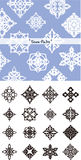 Snow flake silhouette Royalty Free Stock Photos
