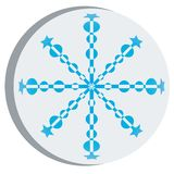 Snow flake sticker Stock Image