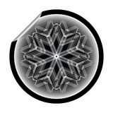 Snow flake sticker isolated on white background 10 Royalty Free Stock Photography