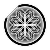 Snow flake sticker isolated on white background 14 Stock Photos