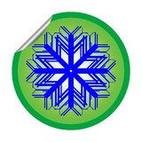Snow flake sticker isolated on white background 2 Royalty Free Stock Image
