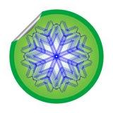 Snow flake sticker isolated on white background 6 Royalty Free Stock Image