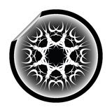Snow flake sticker isolated on white background 9 Stock Photography
