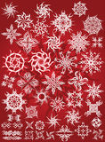 Snow flake tattoo. There is collection abstracted, tattoo suns or snowflackes Royalty Free Stock Image