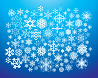 Snow Flakes. Hundred of snow flake elements Stock Image