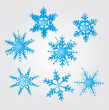 Snow flakes. Original vector snow flakes isolated shapes Stock Photo