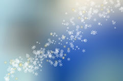Snow Flakes. On a blue backround Stock Photography
