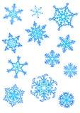 Snowflakes. Twelve original snowflakes, vector, decoration, christmas, new year Stock Photo