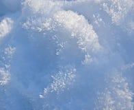 Snow flakes. Closeup of a snow texture stock photos