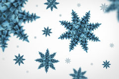 Snow flakes. Cyan trees looks like a snow flakes in a white background Royalty Free Stock Photo