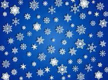 Snow flakes. Abstract blue background with snow Royalty Free Stock Image