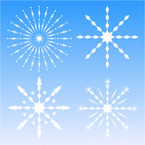 Snow flakes Stock Photos
