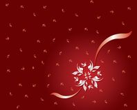 Snow Flakes. Snow Flake on a red background card Royalty Free Stock Photos