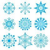 Snow-flakes royalty free stock photos