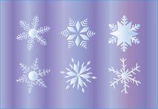 Snow flakes. Illustration of snow flakes, decoration, violet Stock Image