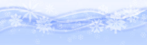Snow flakes. Winter snow flakes on blue background Royalty Free Stock Photography