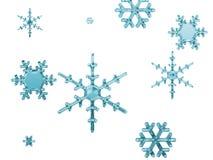 Snow flakes. Isolated on white stock illustration