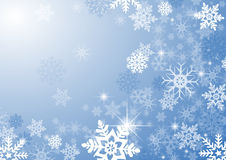 Snow flakes. A computer generated christmas background with snowflakes royalty free illustration