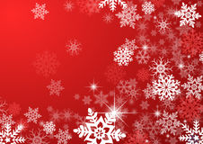 Snow flakes. A computer generated christmas background with snowflakes vector illustration