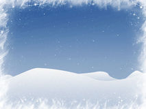 Snow and flakes. White snow and flakes with copyspace stock illustration