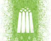 Free Snow Flakes And Church Window Royalty Free Stock Photo - 3404495