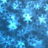 Snow Flakes Background. Snow flakes on blue background Royalty Free Stock Photos