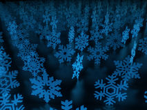 Snow flakes background Stock Photos