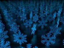 Snow flakes background. 3D snow flakes background illustration Stock Photos