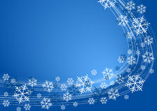 Snow flakes background. White snowflakes on blue color royalty free illustration