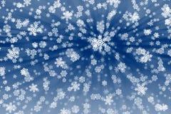 Snow flakes background Stock Photo