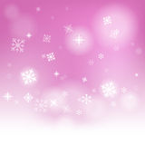 Snow Flakes Background Means Seasonal Cold Or Royalty Free Stock Images