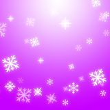 Snow Flakes Background Means Winter Stock Photos