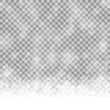 snow flakes background with vector transparency Royalty Free Stock Photos