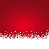 Snow flakes background. White snow flakes on bottom side and colored background Royalty Free Stock Image