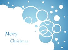 Snow flakes and bubbles on blue. Christmas background, snow flakes and bubbles on blue Stock Images