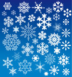 Snow flakes choices Royalty Free Stock Images