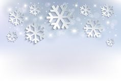 Free Snow Flakes Christmas Background Blue Stars Royalty Free Stock Image - 129231636