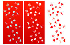 Snow Flakes Christmas Compositions Royalty Free Stock Image