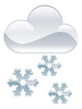 Snow flakes clouds illustration Royalty Free Stock Photos